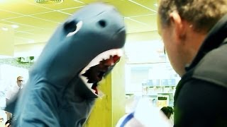 Guy in Shark Costume Spazzes Out to DubStep in McDonalds