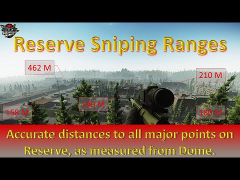 Escape Form Tarkov Reserve Sniping Guide - Distances From Dome