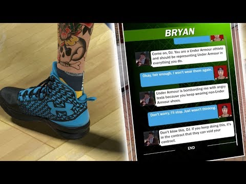NBA 2K18 MY CAREER! UNDER ARMOUR CEO THREATENS ME AFTER I WEAR ADIDAS!