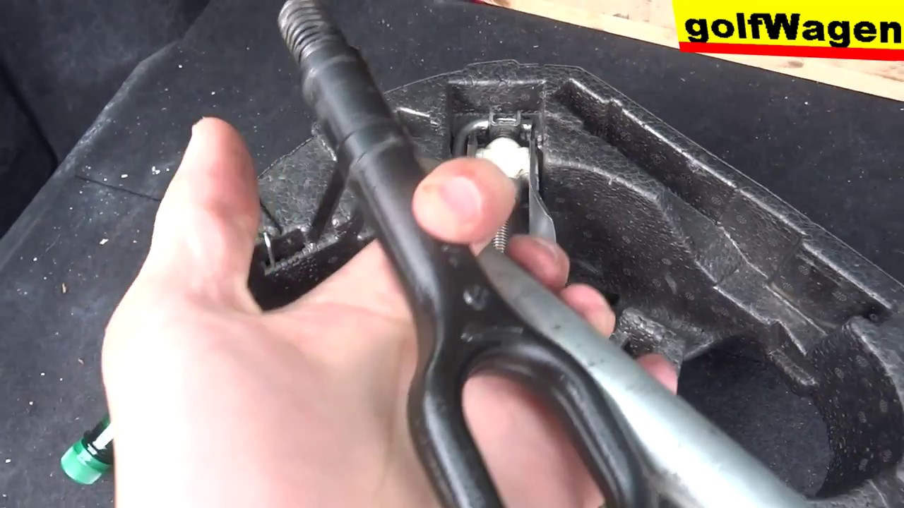 VW Golf 5 how to install tow hook /pull car with rope ...