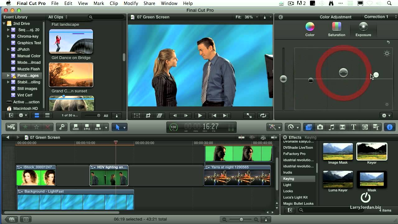 How to use chroma key/green screen final cut pro x tutorial youtube.