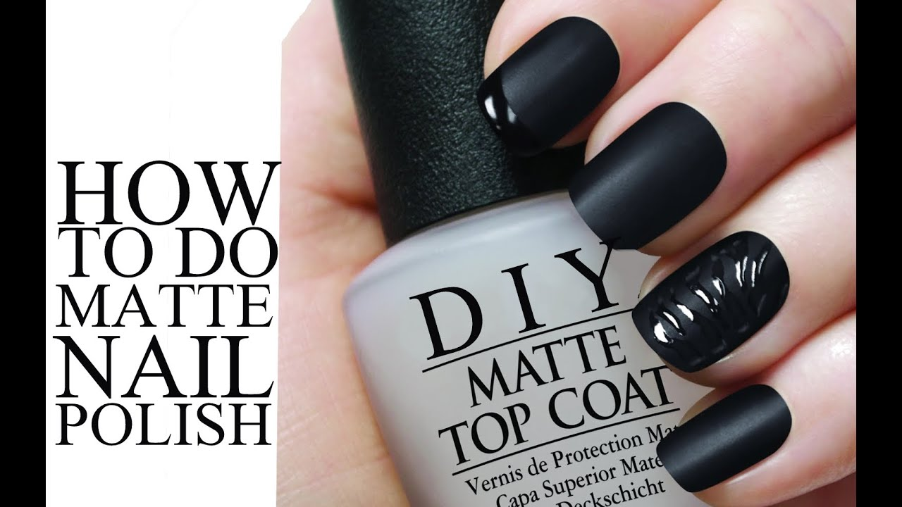 DIY MATTE Nail Polish - YouTube