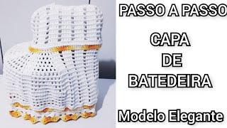 CAPA DE BATEDEIRA  MODELO ELEGANTE  PASSO A PASSO