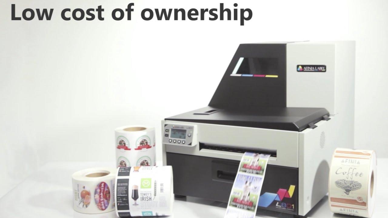Color printer label - Afinia Label L801 Color Label Printer Overview
