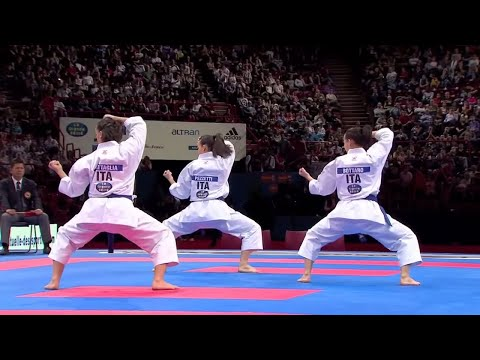 (2/2) Karate Japan vs Italy. Final Female Team Kata. WKF World Karate Championships 2012