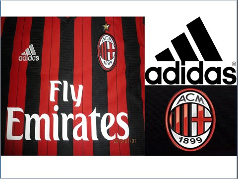 Adidas AC Milan Home Authentic Jersey 2013 - 2014 Stop Motion