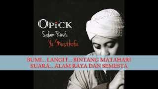 Opick - Salam Rindu Ya Musthofa (Lyric Video) HD