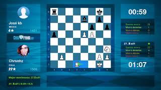 Chess Game Analysis: Chrsnhz - José kb : 1-0 (By ChessFriends.com)