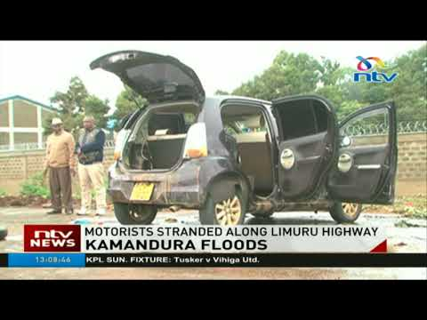 Motorists stranded along Limuru highway after heavy rains