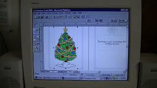 Nostalgia Mall Christmas 2018: Making a Windows 95 Christmas Card