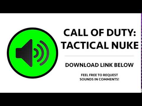 Call of Duty - Tactical Nuke Incoming Sound Effect