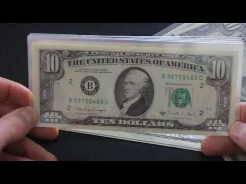$10 Ten Dollar Bills Small Face, Sweet Find, Consecutive Serial Numbers Uncirculated