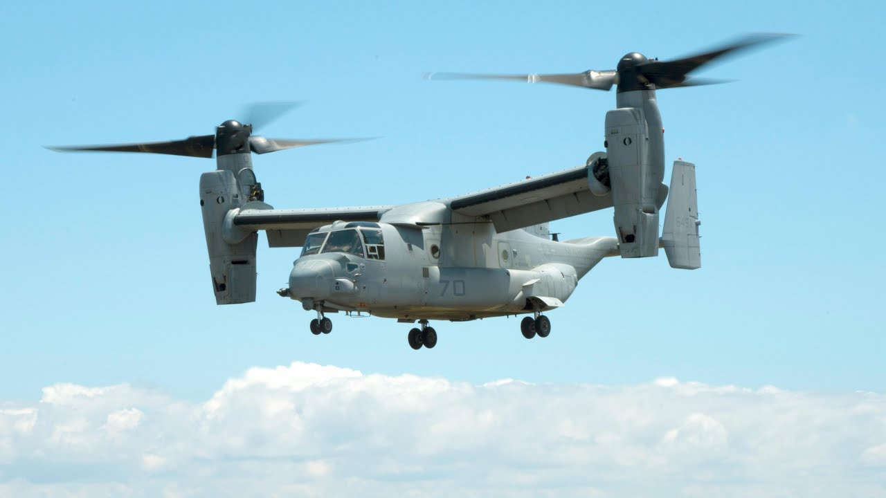 Mv-22b Osprey With 3-d Printed Parts Takes Flight