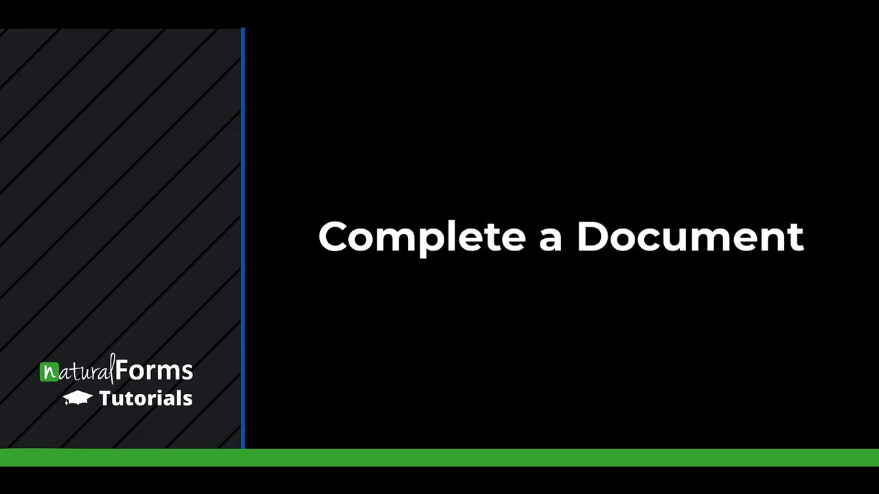 Complete a Document (Web Portal)