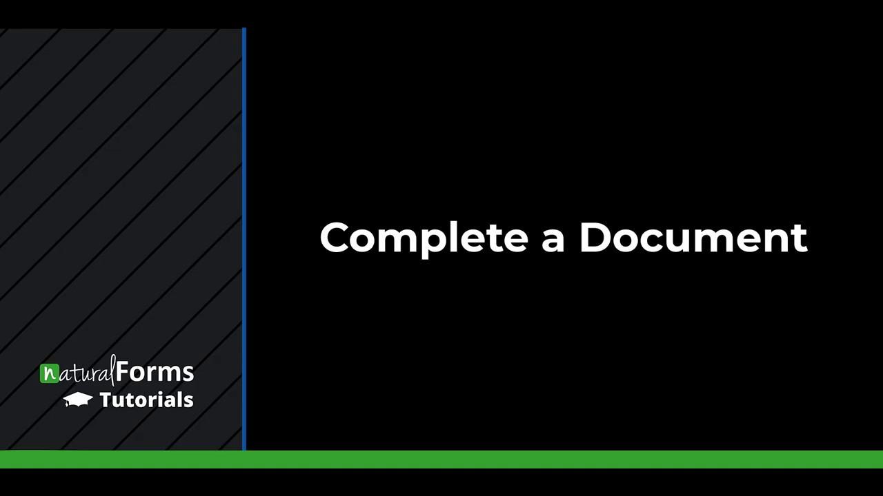 Complete a Document (Web Portal)