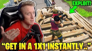 Tfue Shows & Uses *NEW* 'Get In A 1X1 Instantly' Pyramid EXPLOIT! (Fortnite FUNNY & Daily Moments)