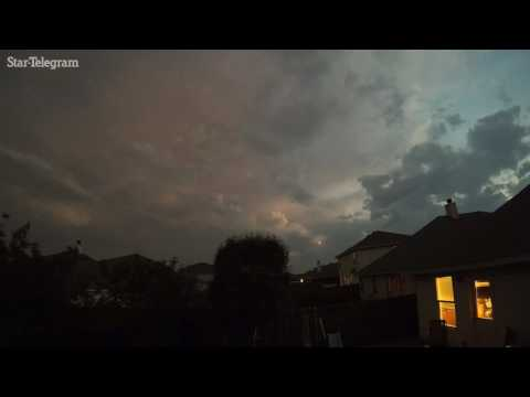 Timelapse of storm clouds that brought large hail to North Texas yesterday