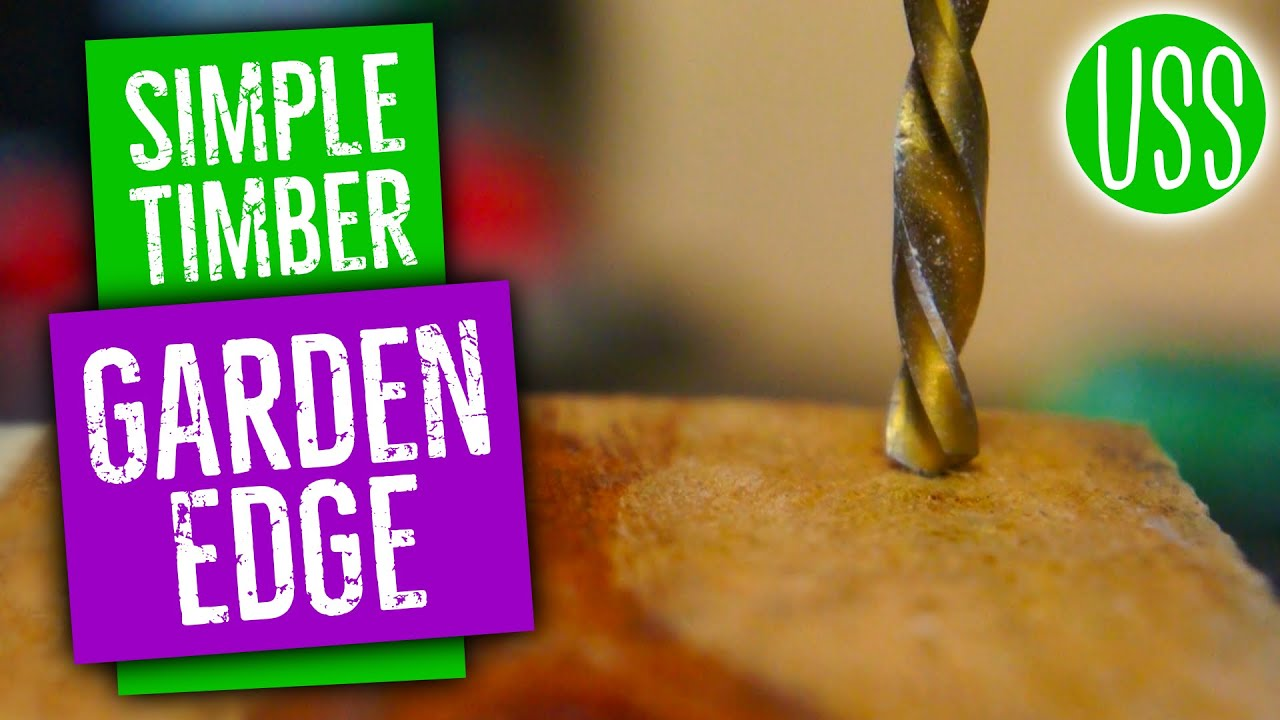 How to make a Simple Timber Garden Edge