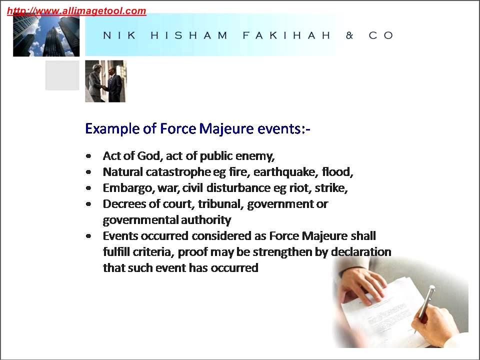 Force majeure clauses from a shariah perspective youtube force majeure clauses from a shariah perspective pronofoot35fo Image collections