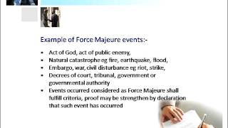 Force Majeure Clauses from a Shariah Perspective
