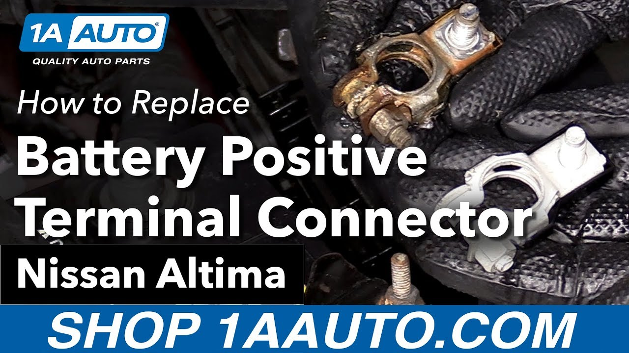 how to replace install battery positive terminal connector 05 nissan altima [ 1280 x 720 Pixel ]