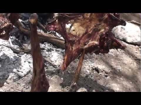 Price family eat goat from Maasai tribe