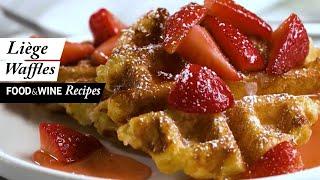 Liège Belgian Waffles | Food & Wine Recipes