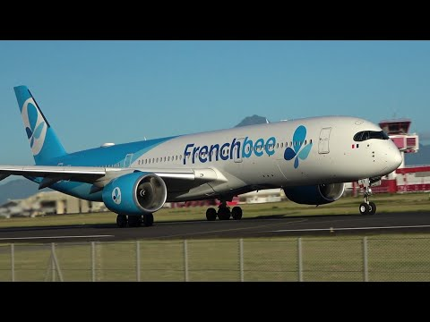 Tahiti PPT Airport 🇵🇫 VERY CLOSE UP Plane Spotting ! Papeete Fa'a'ä, Air France, United, Frenchbee