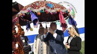 Rousing Reception of Israeli PM Netanyahu and PM Narendra Modi at Ahmedabad