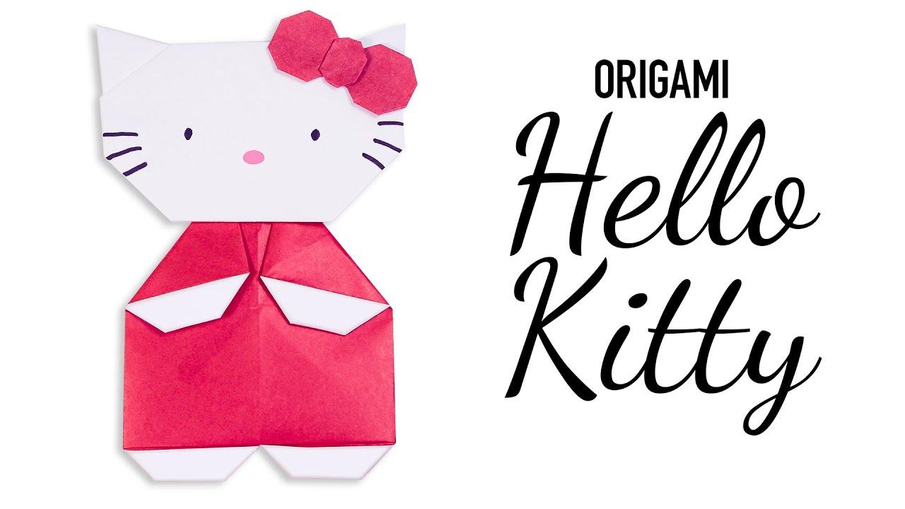 Cute Origami HELLO KITTY Tutorial ♥︎ DIY ♥︎ - YouTube - photo#14
