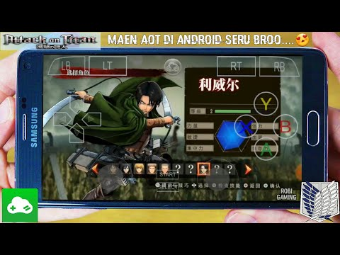 Attack on titan on android game play