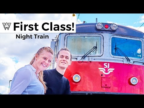 First Class Night Train - SJ to Stockholm Sweden! 👑