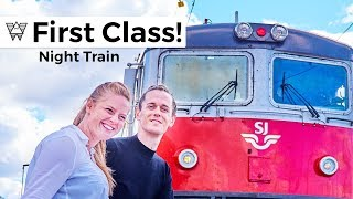 First Class Night Train - SJ to Stockholm Sweden! ?