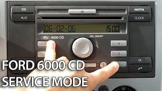 Як увійти в сервісний режим Ford блок CD-радіо 6000 (С-MAX Фокус Фієста Мондео транзит)
