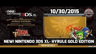 new nintendo 3ds xl hyrule gold edition with the legend of zelda triforce heroes gamestop pre order