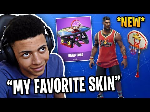 Myth Reacts To *NEW* Basketball Skin, Pickaxe & Glider!   Fortnite Best Moments #63