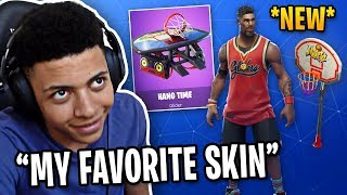 Myth Reacts to *NEW* Basketball Skin, Pickaxe & Glider! | Fortnite Best Moments #63