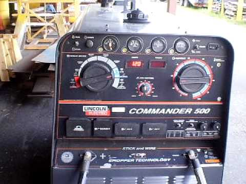 Diesel Engine Working >> 2004 Lincoln Electric Commander 500 Diesel Powered Welder - YouTube
