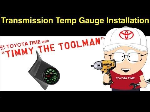 Transmission Temperature Gauge Installation Youtube