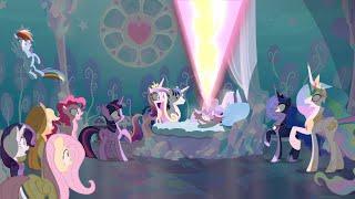 the mane 6 meet flurry heart my little pony friendship is magic season 6