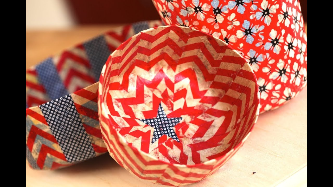 sc 1 st  YouTube & How to Make 4th of July Paper Mache Bowls - YouTube