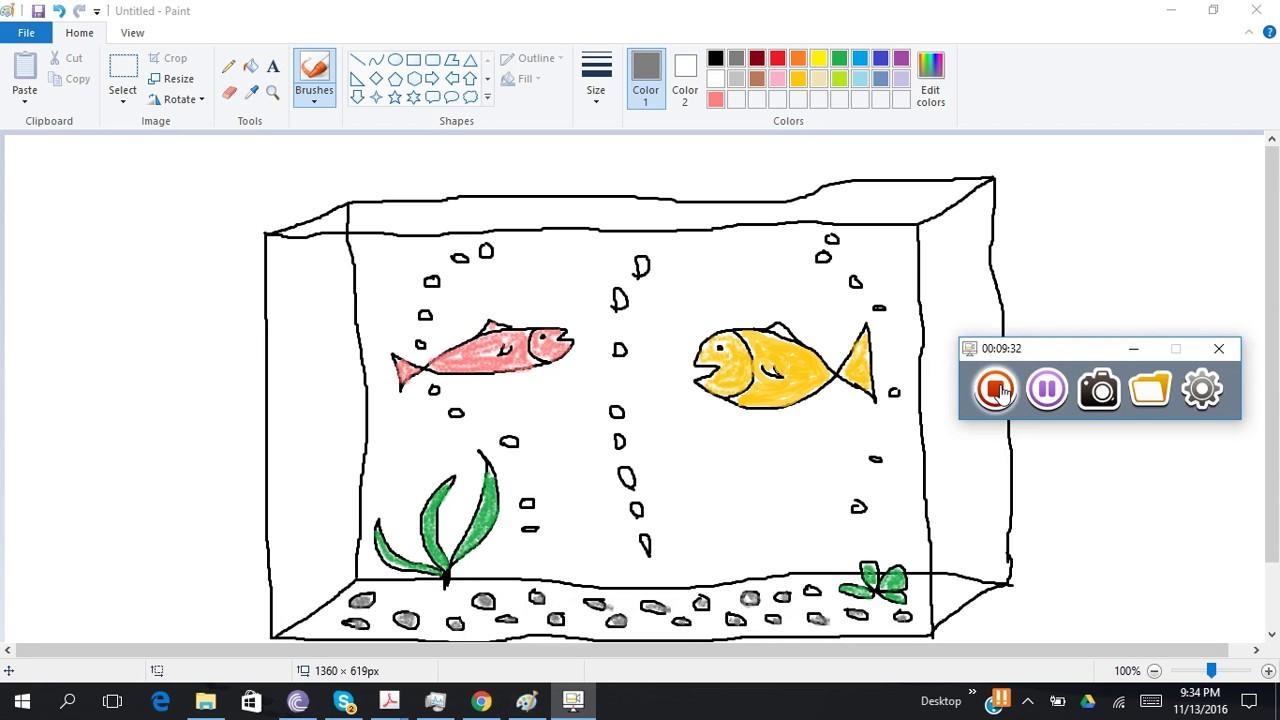 Menggambar Aquarium Youtube
