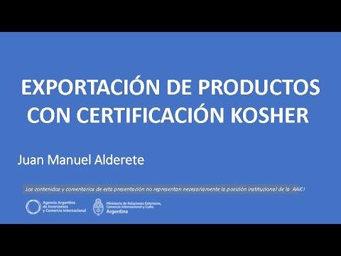 Exportación De Productos Con Certificación Kosher