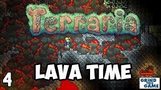 NOOB Plays Terraria #4 - LAVA IS HOT!