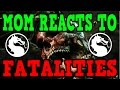 MOM REACTS TO FATALITIES Mortal Kombat X Live Facecam FUNNY (PS4)