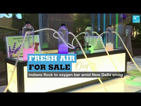 Fresh Air For Sale: Indians Flock To Oxygen Bar Amid New Delhi Smog