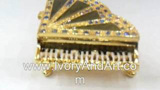 Jeweled Piano - Trinket Box