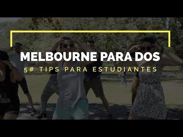 Tips para estudiantes - Melbourne para dos -