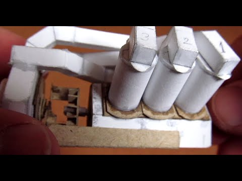 Papercraft V6 engine working paper model