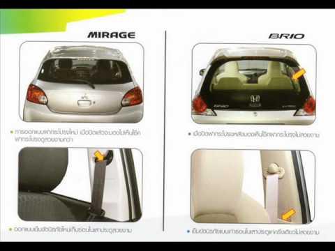 เปรียบเทียบ Eco-Car 3 รุ่น MIRAGE-MARCH-Brio [Thai image slide]